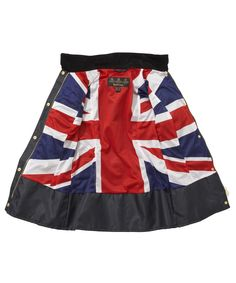 Barbour Union Jack International Swarovski Jacket - Navy