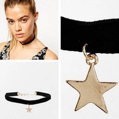 Fashion-Lady-Star-Drop-Choker-Chunky-Chain-Casual-Party-Cocktail-Club-Necklace-B
