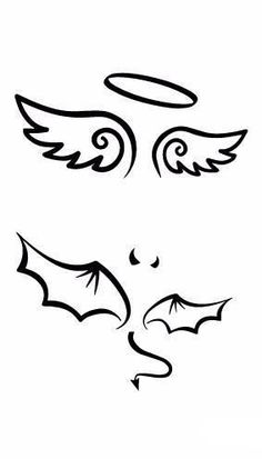 Angel's Devi'sl Wings Minimal Temporary Tattoo Sticker,-,shoulder tat