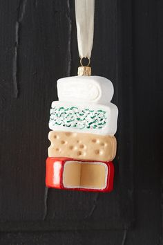 Cheese Stack Glass Ornament | Anthropologie