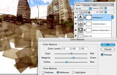 Make final adjustments to your flattened panography