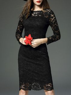 Shop Floryday for affordable S Above Knee Dresses. Floryday offers latest ladies' S Above Knee Dresses collections to fit every occasion. Junior Dresses, Dresses For Sale, Black One Piece, Long Sleeve Mini Dress, Dress Collection, Lace Skirt, Fashion Online, Gowns, Formal Dresses