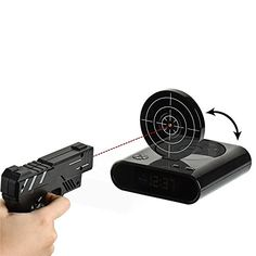Desk Gadget Target Laser Shooting Gun Alarm Clock LCD Screen Gun Alarm ColckTarget Alarm Clock >>> More info could be found at the image url. (Note:Amazon affiliate link)