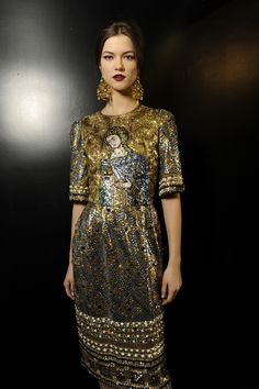 Dolce and Gabbana fw 2013 backstage