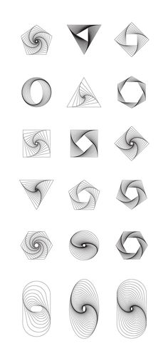 Geometry: 18 twisted objets by kloroform on @creativemarket