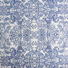 Blue Lace Oilcloth