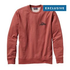 Be part the crew scene in this new organic cotton/polyester/spandex Patagonia Men's Flying Fish Midweight Crew Sweatshirt. Made with organic cotton.