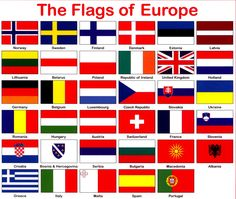 countries europe flags printable - Google Search