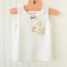 https://flic.kr/p/8iJEtp | oh deer | appliqued, embroidered, bow-tied girl's tank, 2T, for the shop