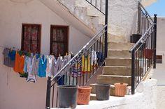 De was hangt te drogen in Koutouloufari, Kreta (Griekenland)