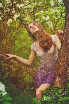 Chorrilho de ideias: Vestido lilás em crochet
