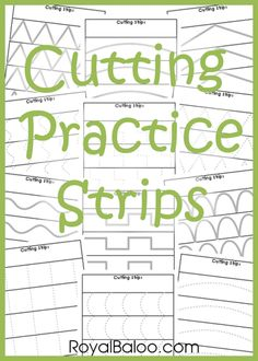 Free Cutting Practice Strips Download: I used to love practicing with scissors when I was a little girl. I think H will love it, too!