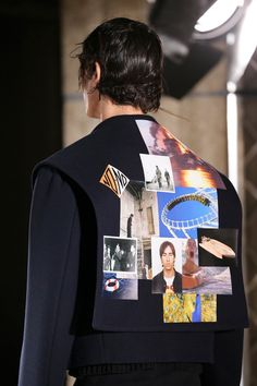 S2015MEN-Raf SIMONS  There are old photos were of Raf's parents courting fifty-five years ago. The roller coaster, the one he rode with his friends Olivier Rizzo and Willy Vanderperre decades ago, the swimmer in peril was danger. In the middle of it all, an old passport photo, Simons in a Superman T-shirt