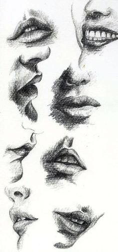 37 Lip Pencil Drawing Ideas - New Mouth Drawing, Life Drawing, Figure Drawing, Painting & Drawing, Drawing Faces, Pencil Art, Pencil Drawings, Art Drawings, Lip Pencil