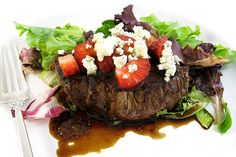 """Get ready to """"wow"""" your family or dinner guests with this super easy to make exquisite meal. It looks and sounds really gourmet and yet this dinner comes to together in under 30 minutes…"""