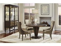 Marco Dining Table 1562-811/810, Gabriella Chair 1562-825, Ansel Display Cabinet 1561-840