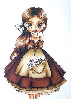 "KalySto: ""Портрет в сепия"" или картинка от началото до края ~ SC Sabrina ~ Spectrum Noir coloring tutorial"