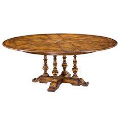 Sarreid Encore Oak Jupe Small Dining Table in Aged Oak SA-78-48