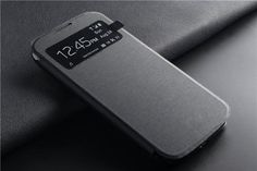 For Samsung galaxy S4 Case Smart Auto sleep View Window Leather Flip Case For Samsung Galaxy S4 i9500 Battery Housing Cover Case