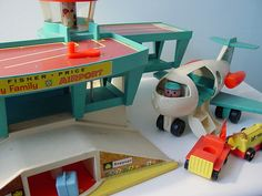 Fisher Price Airport- Hale grandkids... Remember this at grandma's, in the closet? Haha