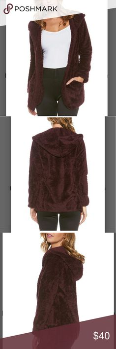 COMING SOON! Plum Plush Open Cardigan Hoodie So soft and cozy...my new obsession. You will love this! See pic 4 for sizing. 100% polyester. Machine wash. Sweaters