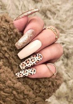21 Trendy Coffin Nails Design Ideas 20 - Früchte im Garten Fall Acrylic Nails, Cute Acrylic Nails, Gel Nails, Nail Polish, Coffin Nails, Nail Nail, Stiletto Nails, Dark Nail Designs, Cute Acrylic Nail Designs