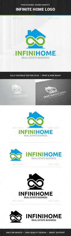 Infinite Home Logo Template — Vector EPS #logo #symbol • Available here → https://graphicriver.net/item/infinite-home-logo-template/14035370?ref=pxcr