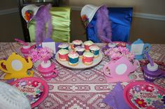 My Girl's 5th Birthday Party--Tea Time.  My first attempt at a real theme party at home for my daughter