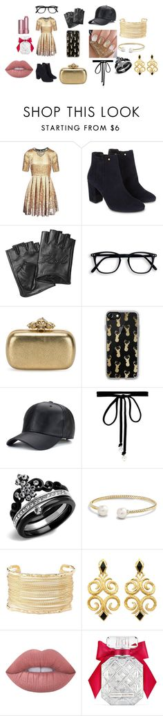 """""""My own style"""" by little-emma-182 on Polyvore featuring Matthew Williamson, Monsoon, Karl Lagerfeld, Alexander McQueen, Casetify, Joomi Lim, David Yurman, Charlotte Russe, Lime Crime and Victoria's Secret"""