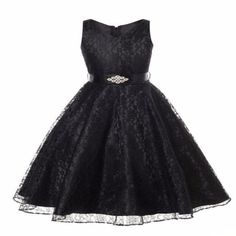 Elegant Embroidery Sleeveless Party Kids Lace Dress. Little Girl  DressesFlower ... 043e82bc7a09