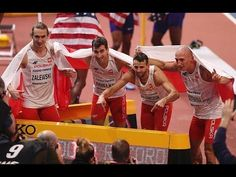 Poland Wins Men's 4x400m.| New world record 3:01.77 - World Indoor Champ...