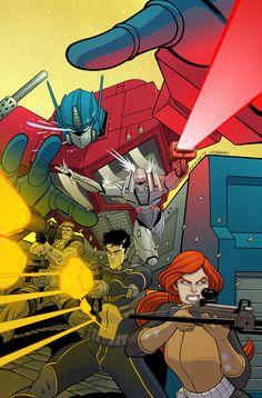 Revolution - Transformers, G. Joe, and ROM by Tradd Moore, colours by Felipe Sobreiro * Comic Book Covers, Comic Books, Tradd Moore, Midtown Comics, Fox Kids, Morning Cartoon, Comics Online, Comic Artist, Transformers