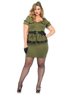New Leg Avenue 85427X PLUS SIZE 3PC.Commander Cutie Female Adult Costume  #LegAvenue