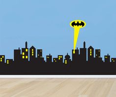 Gotham City Skyline Batman Decal Removable WALL by PrintaDream