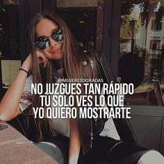 Pero si lo superas.. lo logras! Entonces logras superarlo... eres lo que logras o no?? Wise Women Quotes, Bf Quotes, Tumblr Quotes, Woman Quotes, I Love You Baby, Motivational Phrases, Inspirational Quotes, Latinas Quotes, Positive Thinker