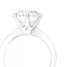 A sketch of the Tiffany® Setting #TiffanyPinterest