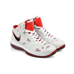 749536b8da829 Air Max Lebron VIII P.S. Men Mesh Grey   White   Varsity Red Basketball  Shoes