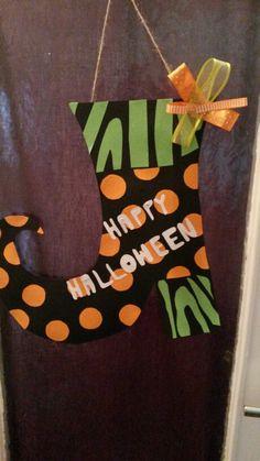 Halloween Tür Deko Selbstgemacht