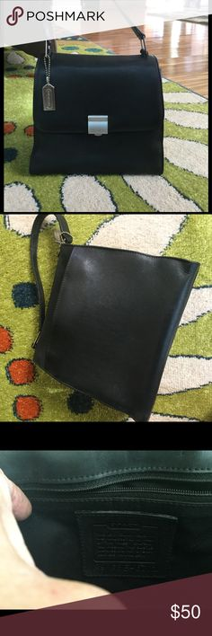 ♥️SALE♥️Coach hand bag Super soft leather like silver hardware coach logo silver tag hanging in front 71/2 tall 4 wide  no stains on inside scuffs on leather around the bag scratches on hardware normal wear used bag handle has I little fraying still looking good give it a 6 1/2 ⭐️ out of 10 being new Coach Bags Mini Bags