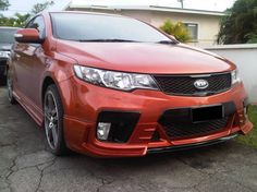 Kia Forte  with a body kit