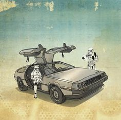 Star Wars and a Delorean