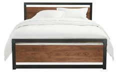 Piper Wood Panel Bed in Natural Steel - Beds - Bedroom - Room & Board $1049 (full size)