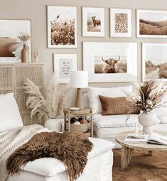 Beige Room, Beige Living Rooms, Boho Living Room, Beige Walls, Living Room Bedroom, Bedroom Wall, Living Room Decor, Bedroom Decor, Wall Decor