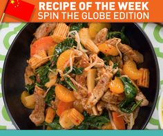 Try our Orange Pork Stir-Fry made with canned mandarin oranges and canned stir-fry vegetables!