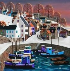 View all George CALLAGHAN art, paintings and contemporary Irish art at the Red Rag art gallery Fantasy Landscape, Landscape Art, Contemporary Artists, Modern Art, Illustration Art, Illustrations, Irish Art, Naive Art, Beautiful Artwork