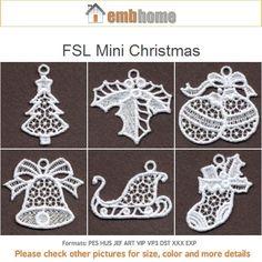 FSL Mini Christmas Ornament Free Standing Lace Machine by embhome
