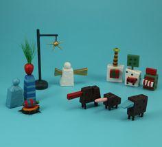 Colorful nativity set by bunnywithatoolbelt on Etsy, $300.00