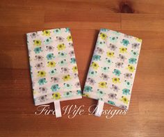 Tiny Elephant Drool/Suck Pads for Soft by FireWifeDesigns on Etsy