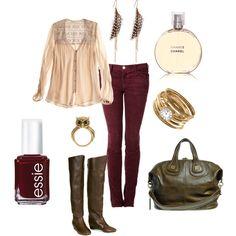 Pretty for fall! So feminine. :)