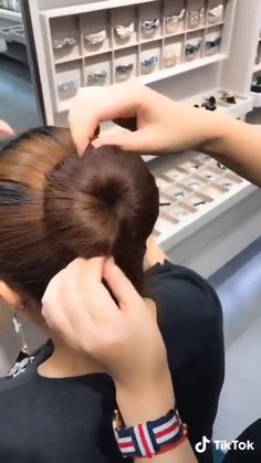 The perfect bun in no time ? Easy Hairstyles For Long Hair, Diy Hairstyles, Hairstyles Videos, 2 Buns Hairstyle, Medium Hair Styles, Short Hair Styles, Natural Hair Styles, Hair Upstyles, Long Hair Video